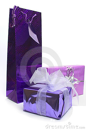 Purple parcels