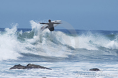 Surfer getting Air