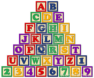 Wooden Alphabet Blocks Eps