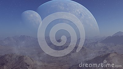 3d rendered Space Art: Alien Planet