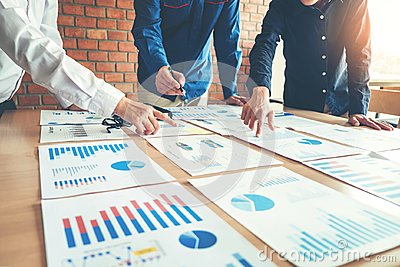stock image of business people meeting planning strategy analysis concept