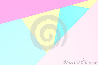 Abstract pastel coloured paper texture background. Minimal geometric shapes and lines in pastel colours.