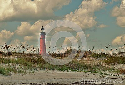 Ponce Inlet Lighthouse from New Smyrna Beach