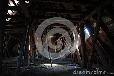 Old wooden attic