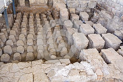 Roman bath house in the ancient city of Bet Shean