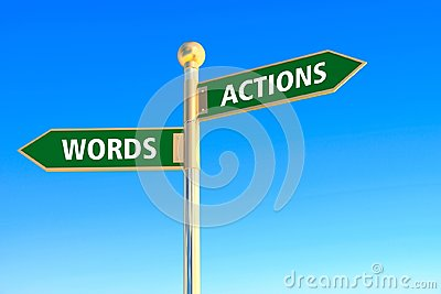 Actions or words