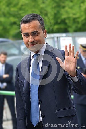 Luigi Di Maio candidate of the 5-star movement to Prime Minister in the general election day