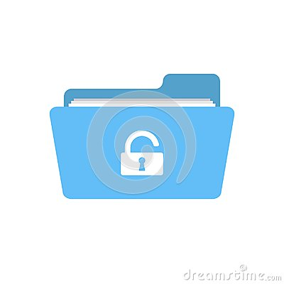 Folder open password protection security unclose unlock icon