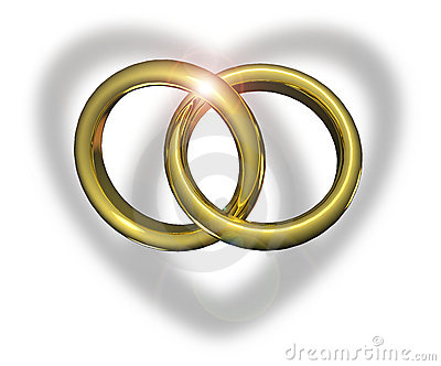 wedding rings togther