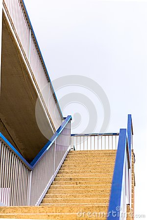 Minimalism urban stairs in the sky