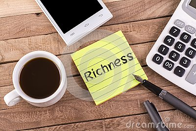 Richness word on memo