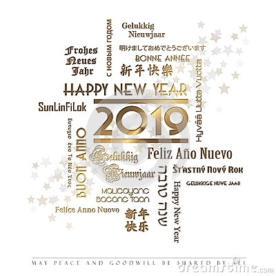 Happy New Year Card Languages 2019