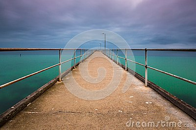A long exposure of the Wool Bay Jetty on Yorke Peninsula South A