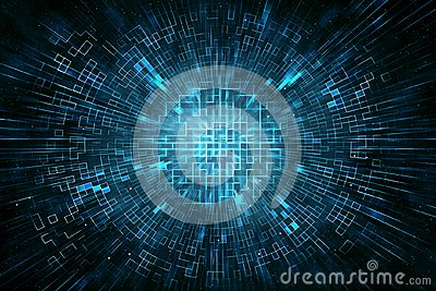 Techno circle abstract background