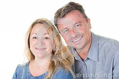Portrait of forties couple smiling