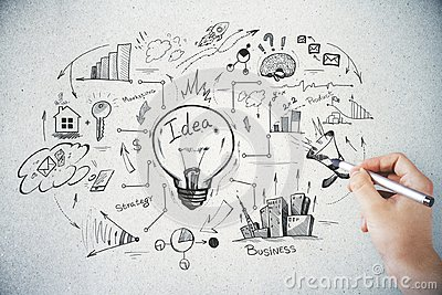 stock image of brainstorm and finance concept