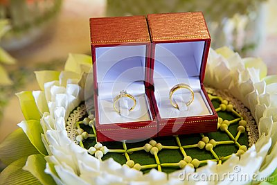 Diamond wedding ring in the luxury box. wedding ring. engagement signs.