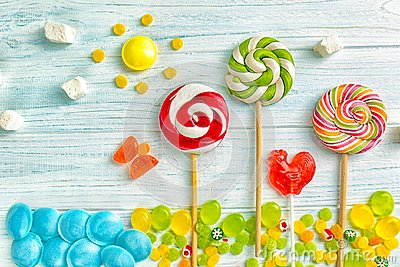 Candies and lollipops