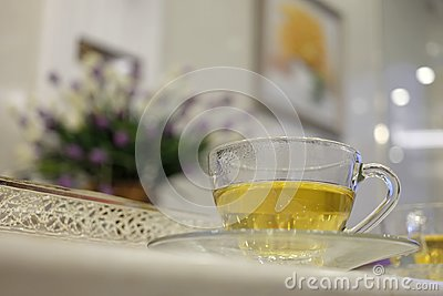 stock image of healthy and hot drinks.
