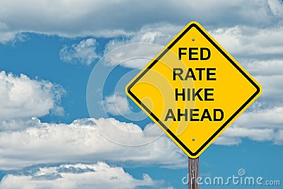 Caution Sign - Fed Rate Hike Ahead