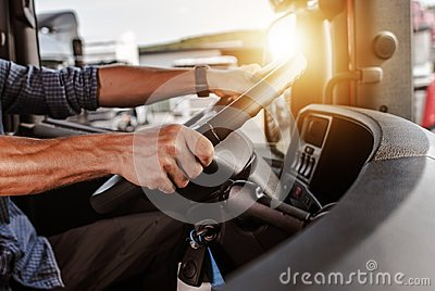 stock image of cdl commercial driver