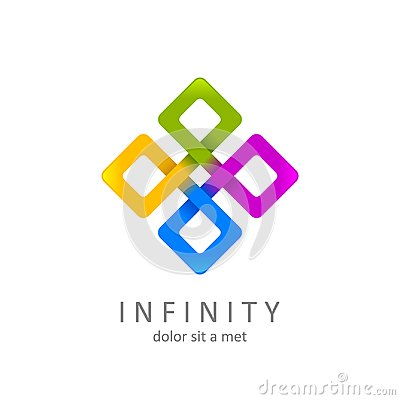Colorful infinity logo, limitless symbol or icon