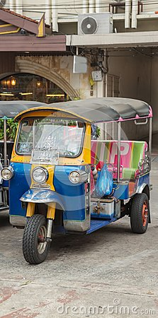 stock image of tuk tuk thai transport