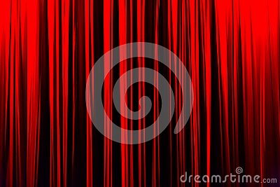 Red striped curtain in theater elegant texture background.
