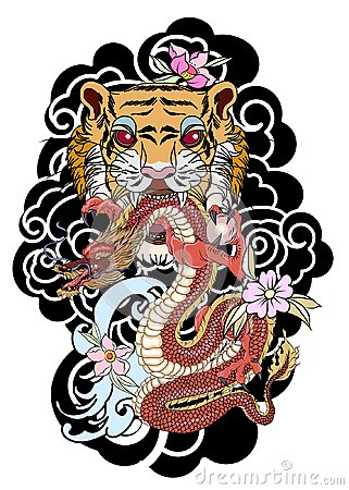 Traditional Japanese Tattoo Design For Back Bodytiger Face With Old