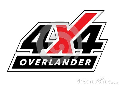 Off-road 4x4 all-terrain overland vehicle sticker design