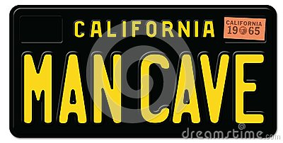 Man Cave License Plate