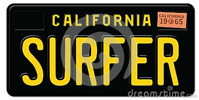 Claifornia Surfter License Plate
