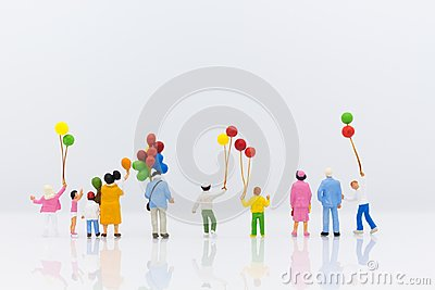 stock image of miniature family using as background international day of families concept