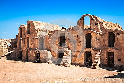 Medenine Tunisia : traditional Ksour Berber Fortified Granary