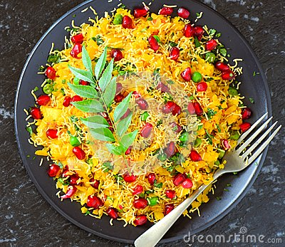 Indian vegetarian glutenfree snack Poha