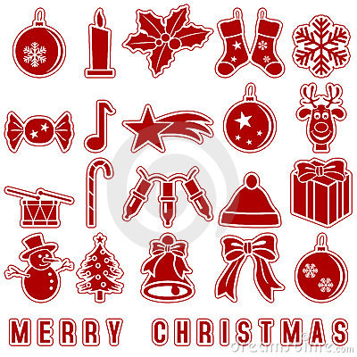 Christmas Stickers Icons