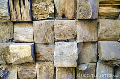 Tiled Old Teak Wood texture wall background for design and decoration. Texture of wood background closeup.