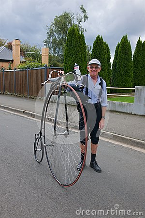 Penny Farthing and rider