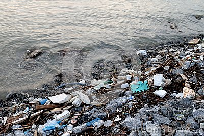 Waste seaside, Garbage on beach Pollution, Waste trash in river, Toxic waste, Wastewater, Dirty water in river