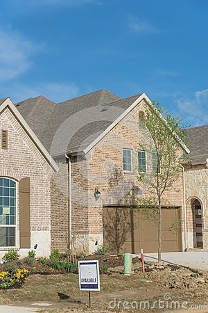 Brand new two story residential house in suburban Irving, Texas,