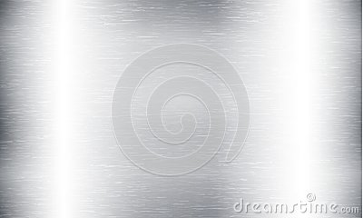 Metal abstract technology background. Aluminum with polished, brushed texture, chrome, silver, steel, for design