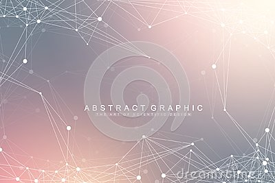 Global network connection. Network and big data visualization background. Futuristic global business. Vector