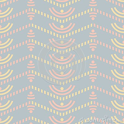Seamless uncomplicated pattern with striped zigzag