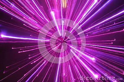 Abstract violet light streak blurs
