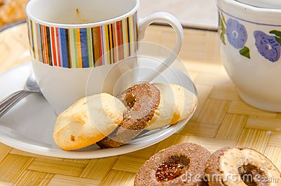 Biscuits with a cup of coffee