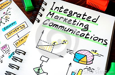 Notepad with sign integrated marketing communications IMC.