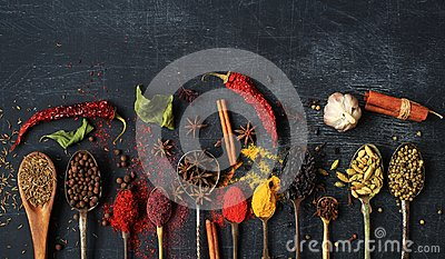 stock image of food and spices