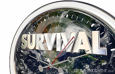 Survival Countdown Planet Earth World Clock 3d Illustration