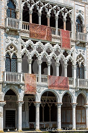 Ca` d`Oro palace on the Grand Canal, Venice