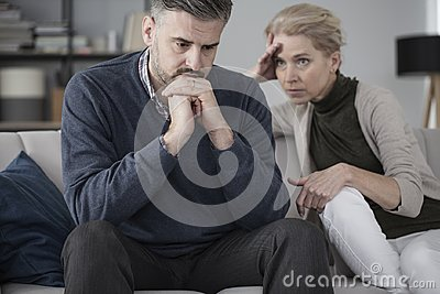 Husband and wife in therapy